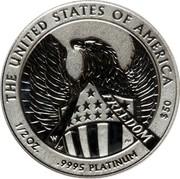 USA 50 Dollars American Platinum Eagle 2007 W Reverse Proof UNITED STATES OF AMERICA W $50 .9995 PLATINUM 1/2 OZ. coin reverse