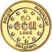 Belgium 50 ECU 1993 (qp) Proof KM# 213 European Currency Units coin obverse