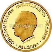Belgium 50 ECU 1993 (qp) Proof KM# 213 European Currency Units coin reverse