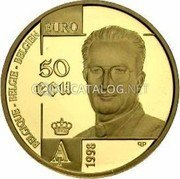 Belgium 50 ECU 1998 (qp) Proof KM# 211 European Currency Units coin obverse