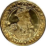 Belgium 50 ECU 30th Anniversary of Treaties of Rome 1987 KM# 167 CAROLVS. D. G. ROM. IMP HISP REX. DVX BVRG. C. F. coin reverse