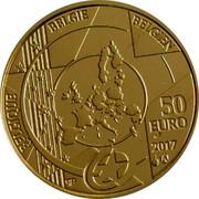 Belgium 50 Euro Antwerp Central Station 2017 BELGIQUE BELGIE BELGIEN 50 EURO 2017 Q P coin obverse
