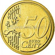 Belgium 50 Euro Cent 2007 Proof KM# 244 European Union Issues coin reverse