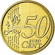 Belgium 50 Euro Cent 2008 Proof KM# 279 European Union Issues coin reverse