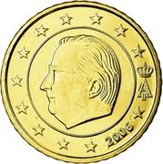 Belgium 50 Euro Cent Albert II - 1st map - 1st type - 1st portrait 2006 Proof KM# 229 A II 2002 coin obverse