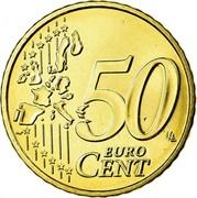Belgium 50 Euro Cent Albert II - 1st map - 1st type - 1st portrait 2006 Proof KM# 229 50 EURO CENT LL coin reverse