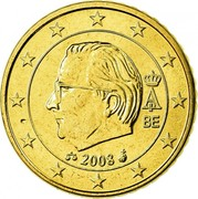 Belgium 50 Euro Cent Albert II - 2nd map - 2nd type - 2nd portrait 2008 Proof KM# 279 A II BE 2012 coin obverse