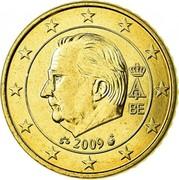 Belgium 50 Euro Cent (Albert II) KM# 300 A II BE 2009 coin obverse