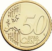 Belgium 50 Euro Cent Philippe 2014 KM# 336 50 EURO CENT LL coin reverse