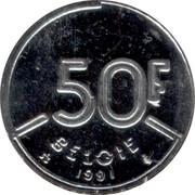 Belgium 50 Francs 1991 KM# 169 Decimal Coinage 50F BELGIQUE 1991 coin reverse
