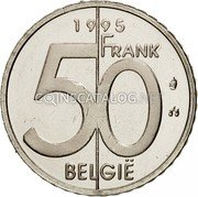Belgium 50 Francs (50 Frank) 1995 Sets only KM# 194 Decimal Coinage coin obverse
