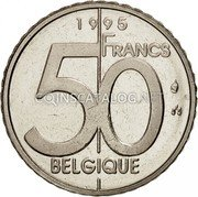 Belgium 50 Francs (50 Frank) 1995 Sets only KM# 193 Decimal Coinage coin obverse