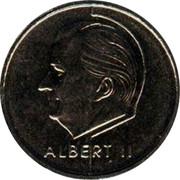 Belgium 50 Francs European Football Championship 2000 KM# 214.1 ALBERT II coin obverse