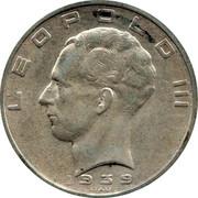 Belgium 50 Francs Leopold III 1939 KM# 122.1 LEOPOLD III 1939 RAU coin obverse