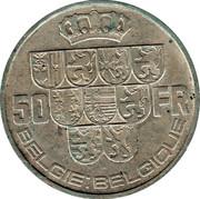 Belgium 50 Francs Leopold III 1939 KM# 122.1 50 BELGIE BELGIQUE FR coin reverse