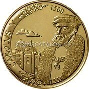 Belgium 5000 Francs 2000 (qp) Proof KM# 220 Decimal Coinage coin reverse