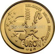 Belgium 5000 Francs 2001 (qp) Proof KM# 223 Decimal Coinage coin obverse