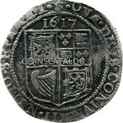 UK 6 Shillings 1617 KM# 35 Scotland coin reverse