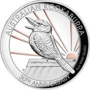 Australia 8 Dollars 30th Anniversary Australian Kookaburra 2020 Proof AUSTRALIAN KOOKABURRA P JM 30TH ANNIVERSARY 5 OZ 9999 SILVER coin reverse