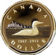 Canada Dollar (25th Anniversary of the Loon dollar) CANADA 1987-2012 DOLLAR coin reverse