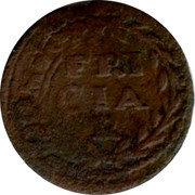 Belgium Duit 1664 (16)64. 16 not visible KM# 85 Country Standart Coinage coin reverse