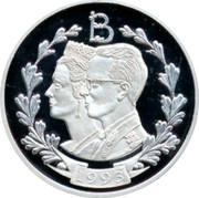 Belgium ECU Baudouin and Fabiola 1993 Proof X# 33 B 1993 coin obverse