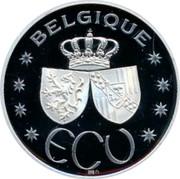 Belgium ECU Baudouin and Fabiola 1993 Proof X# 33 BELGIQUE ECU coin reverse