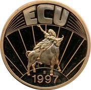 Belgium ECU Leopold I 1997 UNC ECU 1997 coin reverse