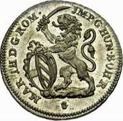 Belgium Escalin 1749 (h) KM# 4 Standart Coinage MAR TH D G R JMP G HUN BOH R coin obverse