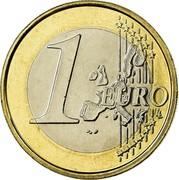 Belgium Euro Albert II - 1st map - 1st type - 1st portrait 2002 Proof KM# 230 1 EURO LL coin reverse