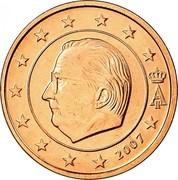 Belgium Euro Cent Albert II - 1st type - 1st portrait 2007 KM# 224 A II 2007 coin obverse