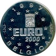 Belgium Euro Margaretta Austruae and Carolus V 1997 Proof 1997 EURO 2000 BELGICA coin obverse