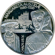 Belgium Euro Margaretta Austruae and Carolus V 1997 Proof MARGARETTA AUSTRIAE 1480-1530 CAROLUS V coin reverse