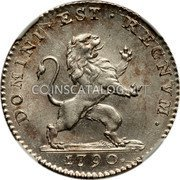 Belgium Florin 1790 (b) KM# 49 Insurrection Coinage coin obverse