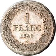 Belgium Franc 1833 KM# 7.2 Decimal Coinage 1 FRANC 1835 coin reverse