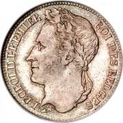 Belgium Franc Leopold I 1835 KM# 7.1 LEOPOLD PREMIER ROI DES BELGES BRAEMT F. coin obverse