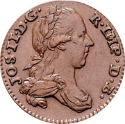 Belgium Liard 1788 (b) KM# 30 Standart Coinage JOS II D G R IMP D B coin obverse