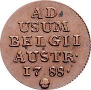 Belgium Liard 1788 (b) KM# 30 Standart Coinage AD USUM BELGII AUSTR 1788 coin reverse