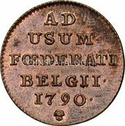 Belgium Liard 1790 (b) KM# 44 Insurrection Coinage coin reverse