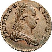 Belgium Liard 1791 (b) KM# 52 Standart Coinage LEOP II D G R IMP D B coin obverse