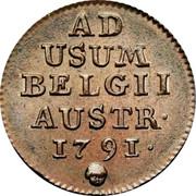 Belgium Liard 1791 (b) KM# 52 Standart Coinage AD USUM BELGII AUSTR. 1791 coin reverse