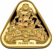 Australia One Hundred Dollars (Australian Shipwreck Zuytdorp) 1712 1 OZ 9999 AU ZUIT DORP coin reverse