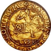 UK Rider 1601 KM# 18 Scotland IACOBVS 6 D G R SCOTORVM 1599 coin obverse