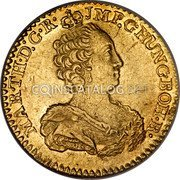 Belgium Souverain D'or 1761 (b) R KM# 24 Trade Coinage coin obverse
