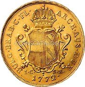 Belgium Souverain D'or 1772 (w) IC-SK KM# 27 Trade Coinage coin reverse