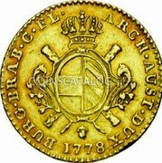 Belgium Souverain D'or 1778 (b) KM# 25 Trade Coinage coin reverse