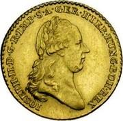 Belgium Souverain D'or Joseph II 1789 (b) KM# 33 IOSEPH II D G R IMP S A GER HIER HUNG BOH REX coin obverse