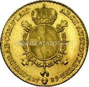Belgium Souverain D'or 1789 (b) KM# 33 Trade Coinage coin reverse