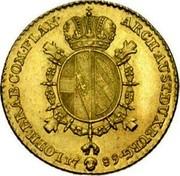 Belgium Souverain D'or Joseph II 1789 (b) KM# 33 ARCH AUST DUX BURG LOTH BRAB COM FLAN 1789 coin reverse