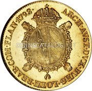 Belgium Souverain D'or 1792 B KM# 43 Trade Coinage coin reverse